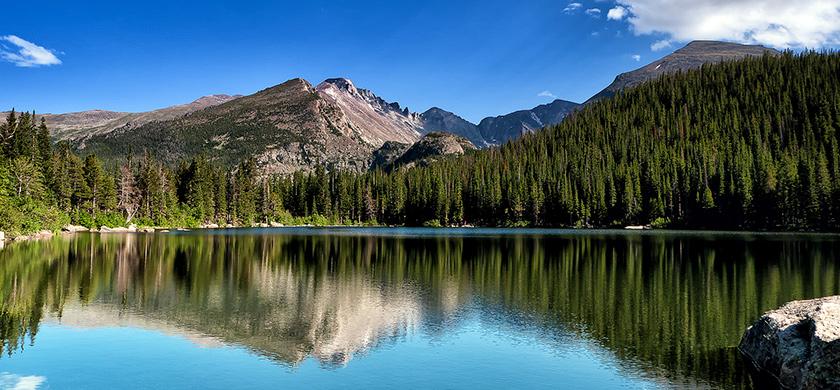 Bear Lake dans le parc national de Rocky Mountain.