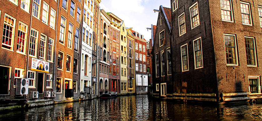 Amsterdam et ses canaux.