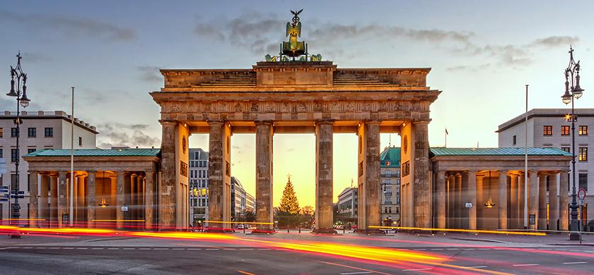 La porte de Brandebourg, l'un des symboles de la ville.