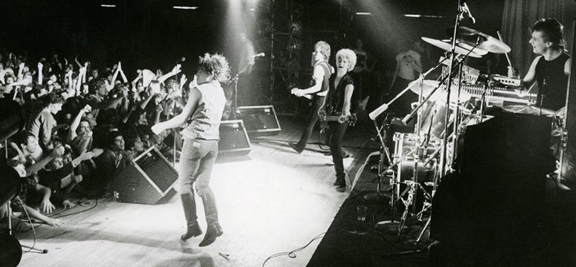 "U2 ""vintage"" durant l'October Tour."